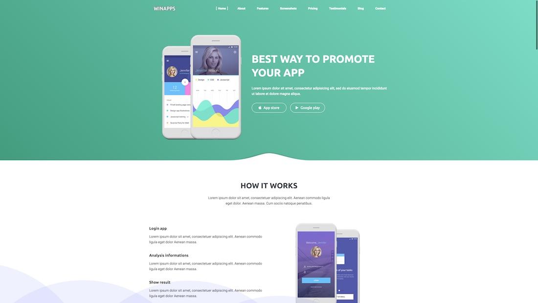 winapps technology website template