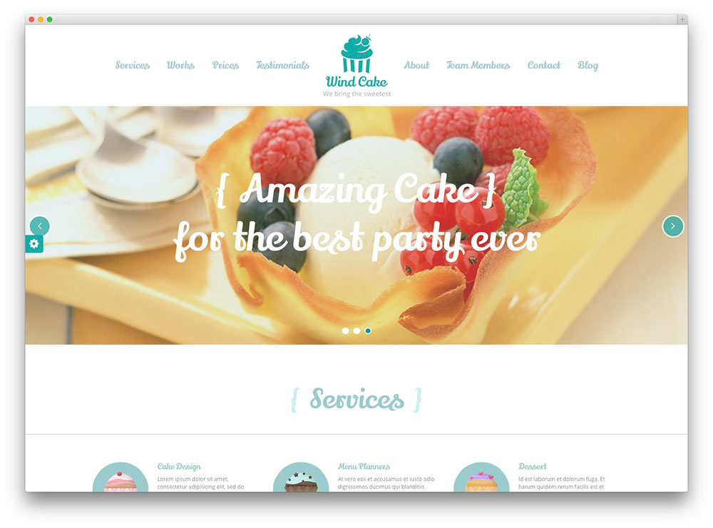 Template Wordpress Cake Design : 20+ Best WordPress Themes for Bakeries & Coffee Shops 2016 ...