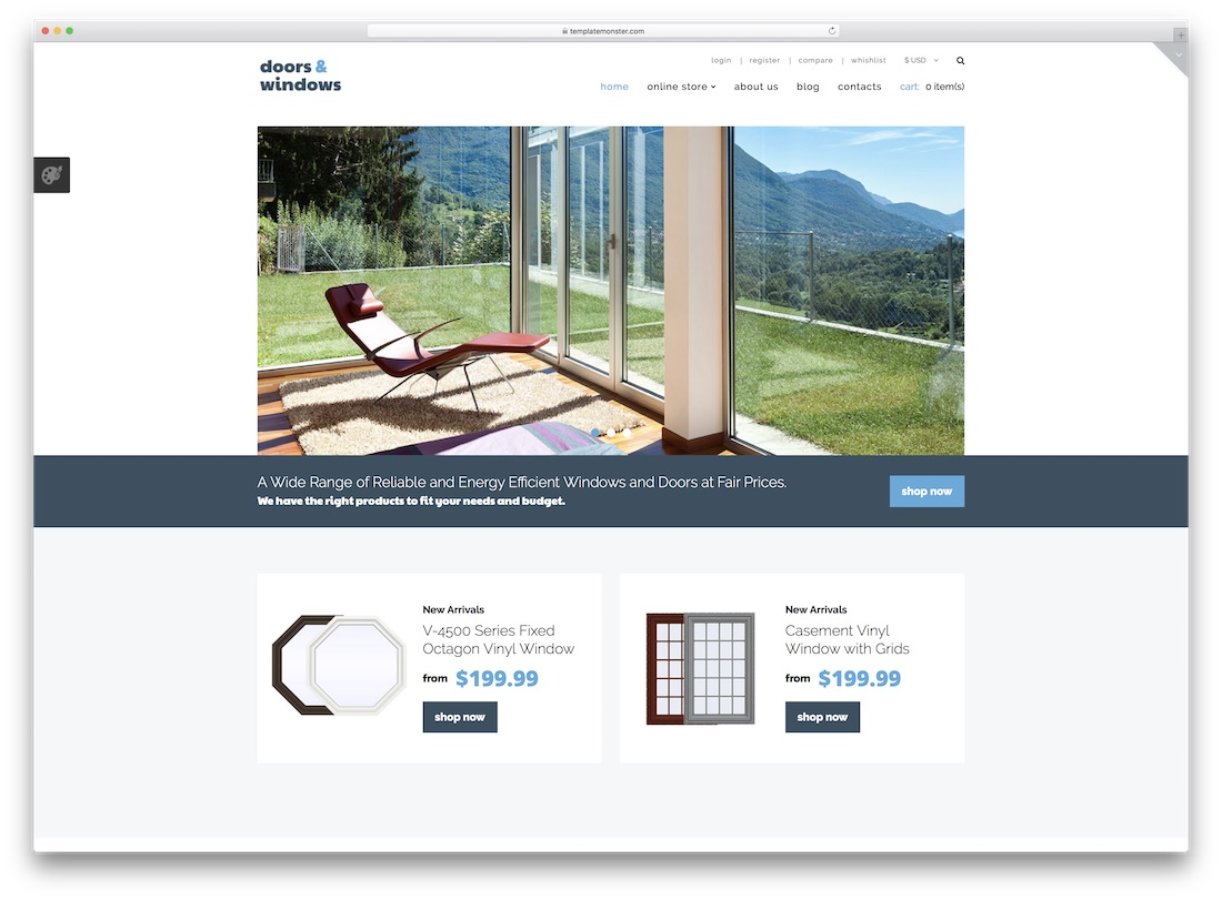 windows and doors virtuemart template