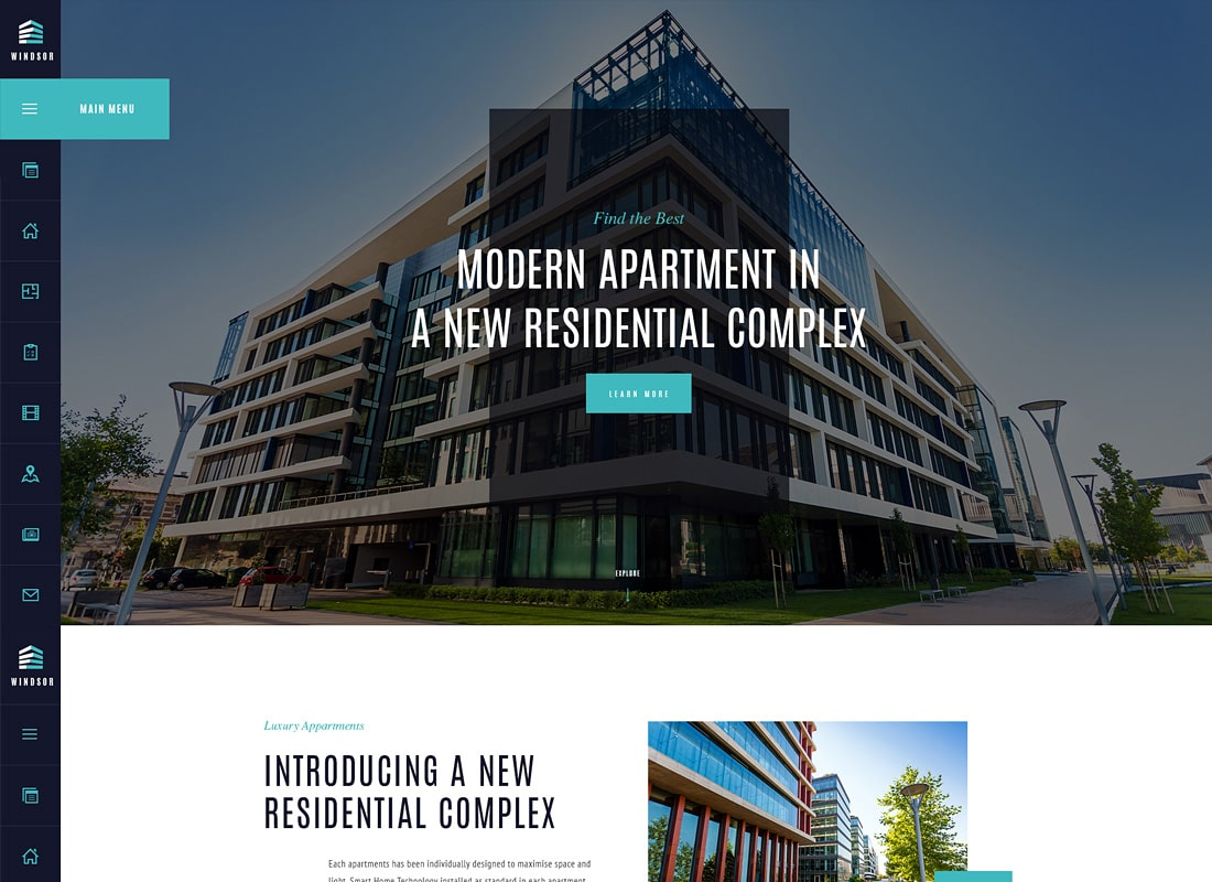 Windsor | Apartment Complex / Single Property WordPress Theme