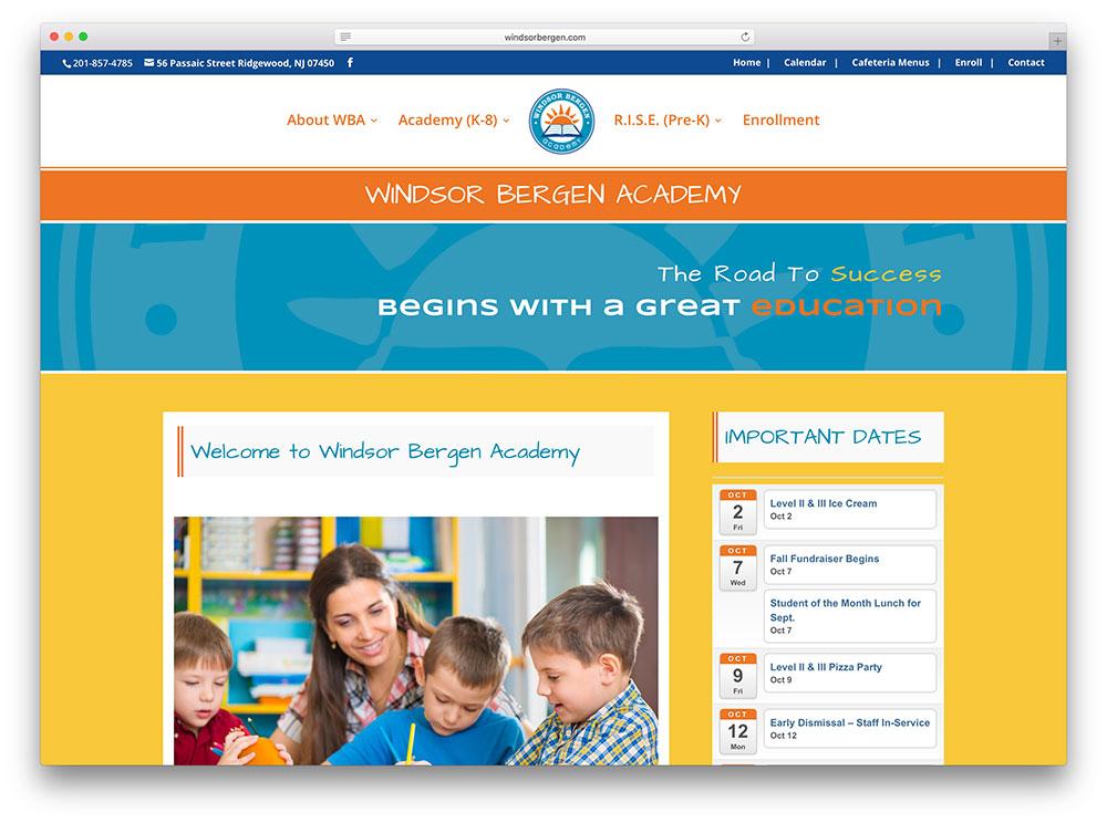 windsorbergen-education-website-divi-example