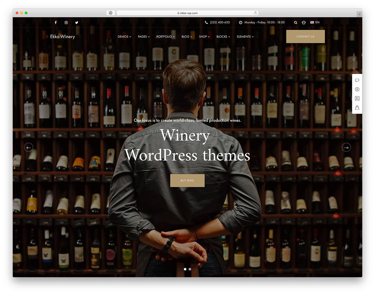 19 Wine WordPress Themes For Winery, Shop & Vineyard 2019