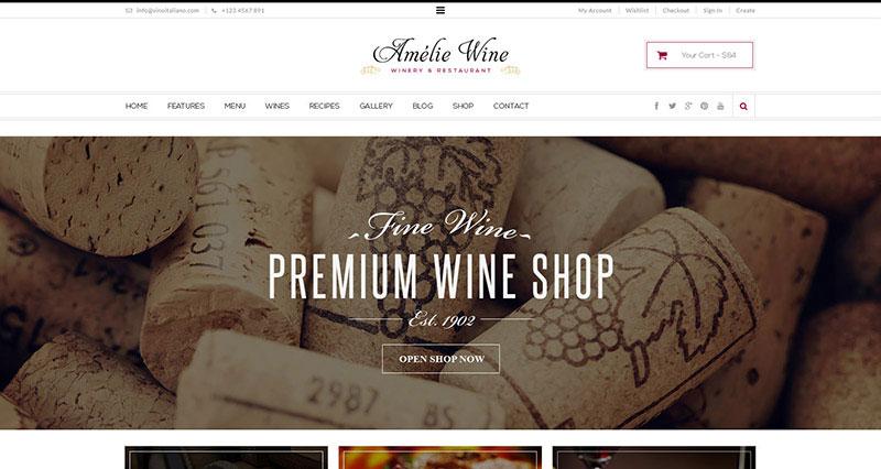 Wine - Restaurant WordPress Shop With Page Builder