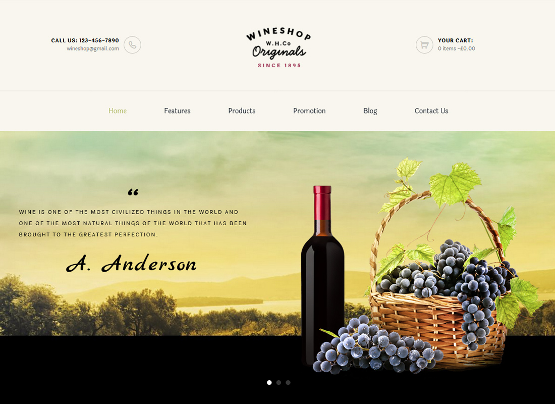 WineShop - Food & Wine Online Store WordPress Theme