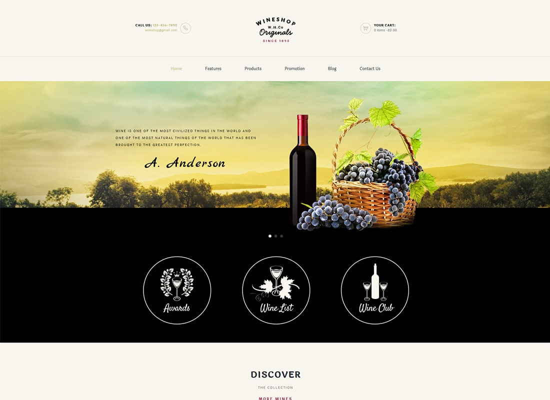 WineShop | Food & Wine Online Store WordPress Theme