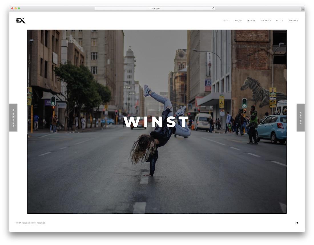 winst artist website template