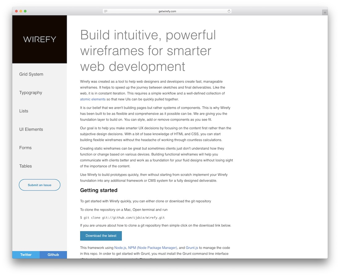 wirefy web design tool