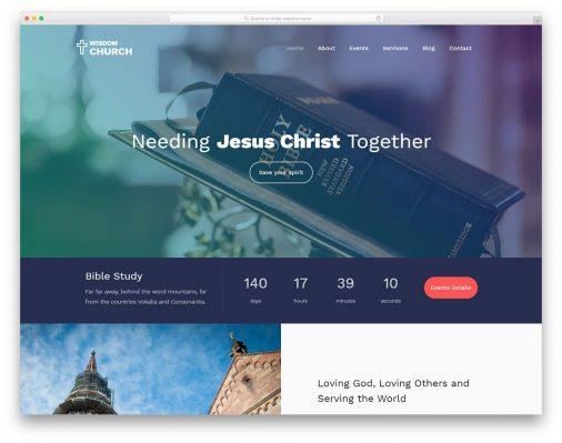 21 Best Free Church Website Templates 2019