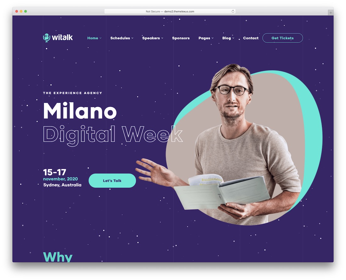 witalk event website template