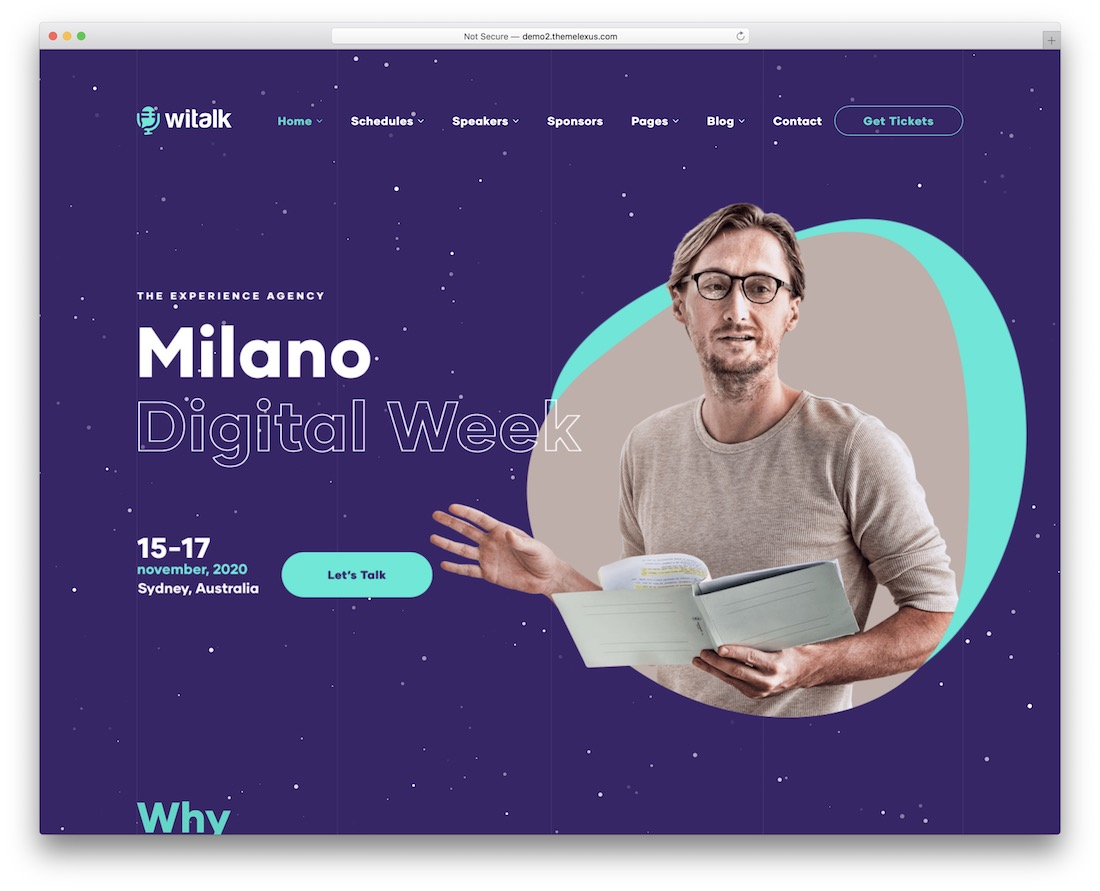 witalk wordpress theme for conference and event