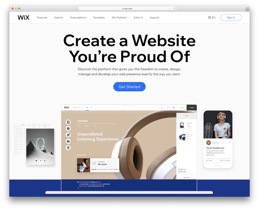wix creating a membership site