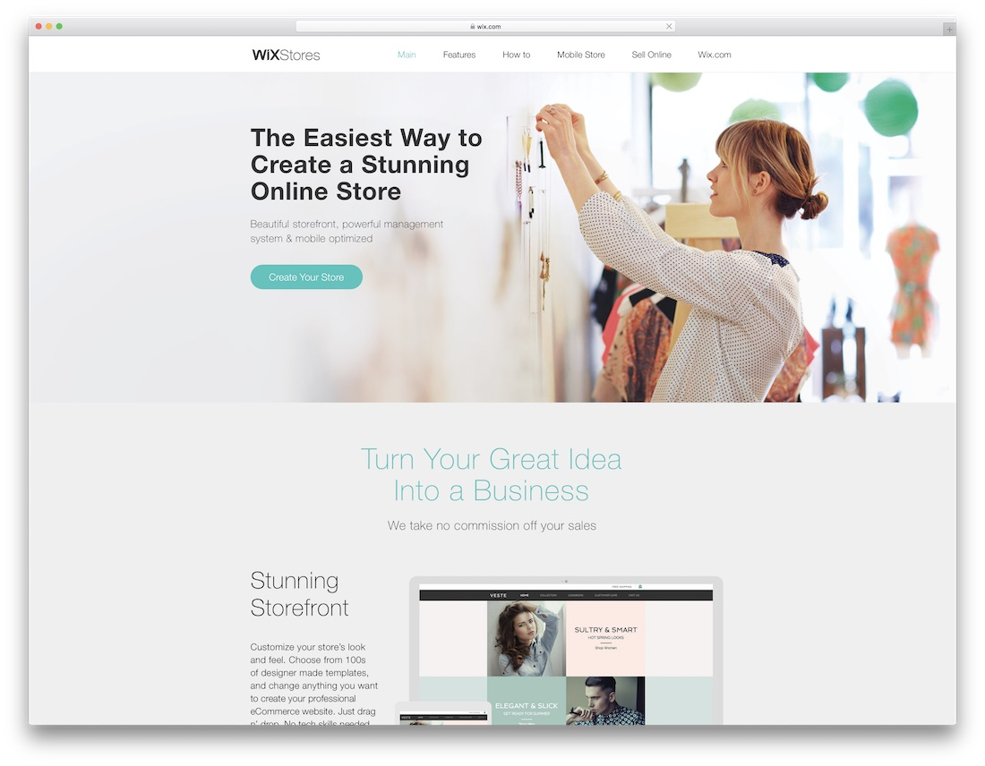 wix fashion website builder