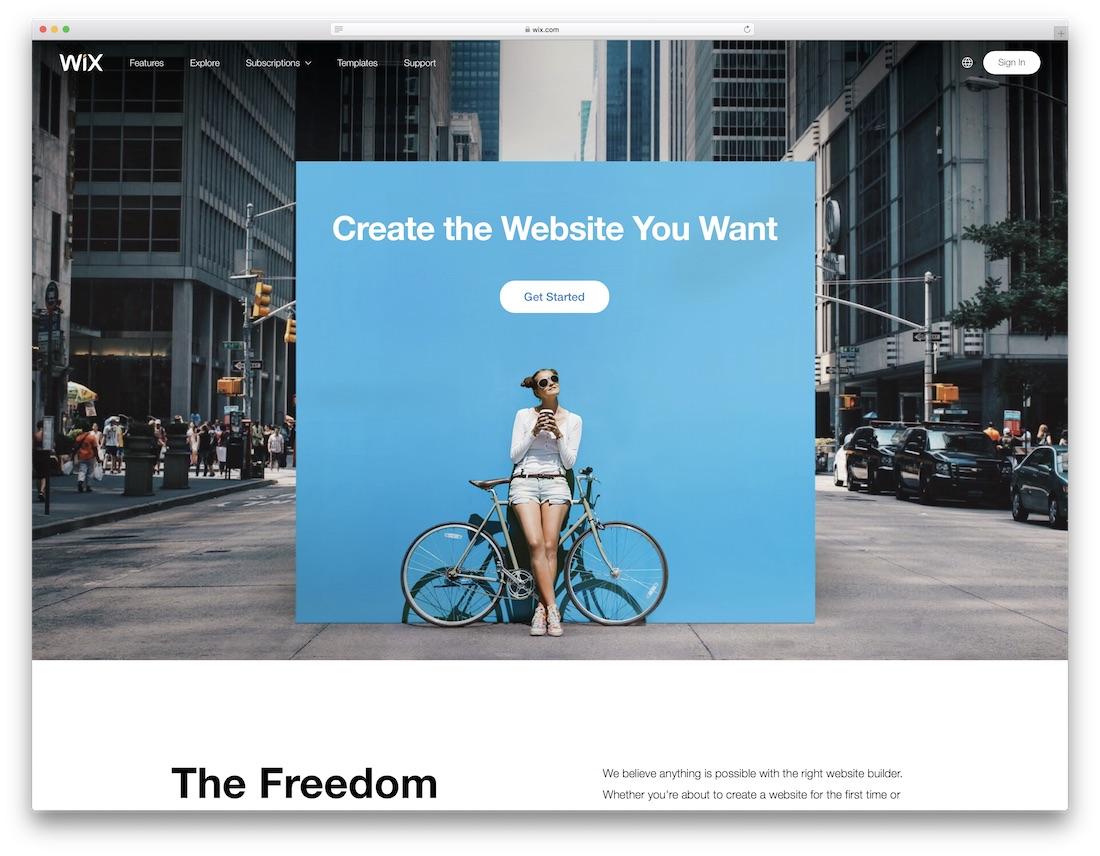 wix free portfolio website builder