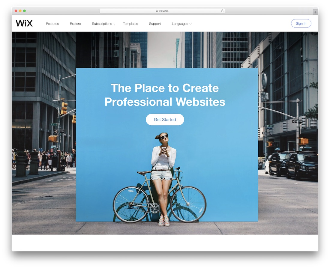 wix website builder for mac