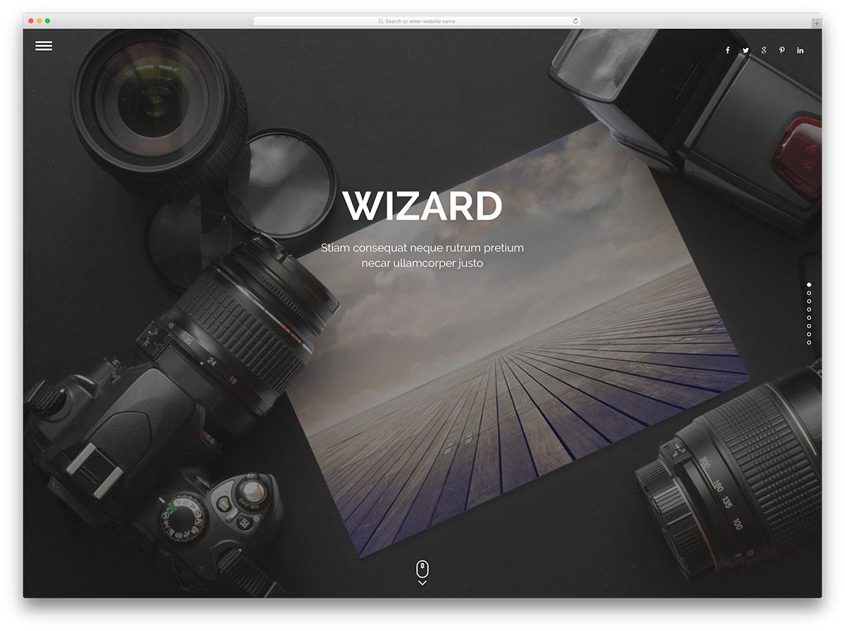 wizard-fullscreen-photography-wordpress-theme