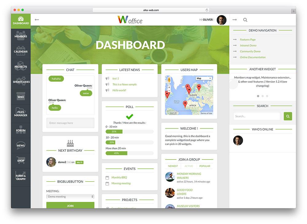 woffice - custom community theme