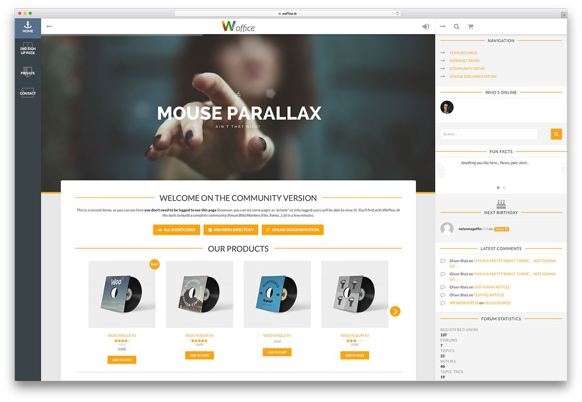 woffice-membership-wordpress-theme