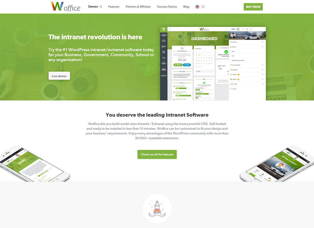 Woffice | Intranet/Extranet WordPress Theme