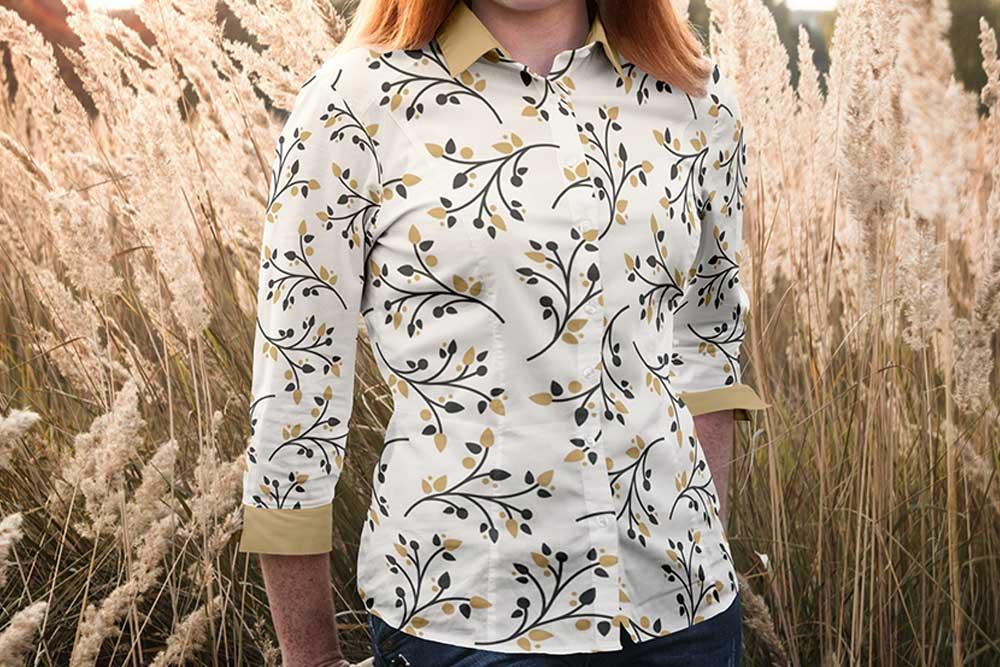woman blouse mockup free psd