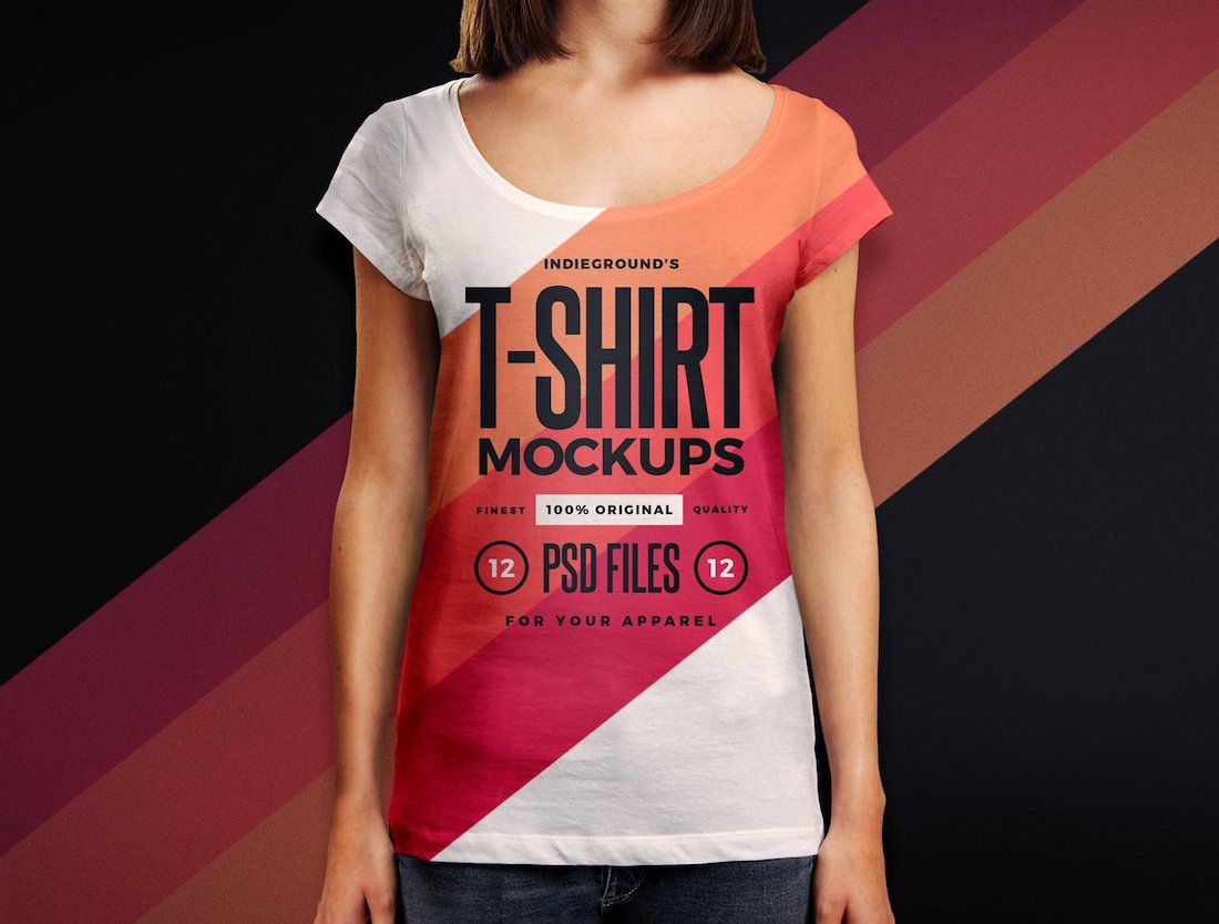 25 Best Woman T Shirt Mockup Templates 2020 Colorlib