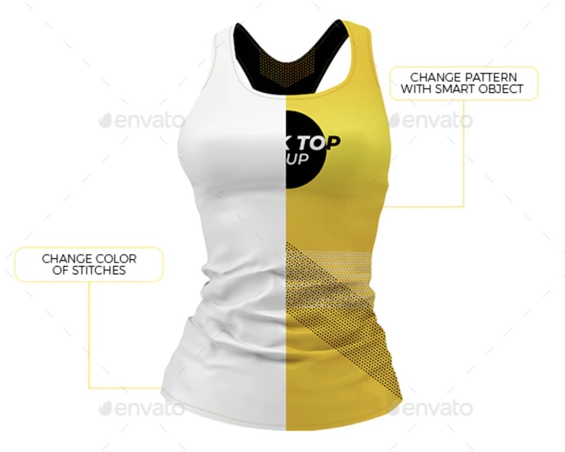 women fitness kit mockup