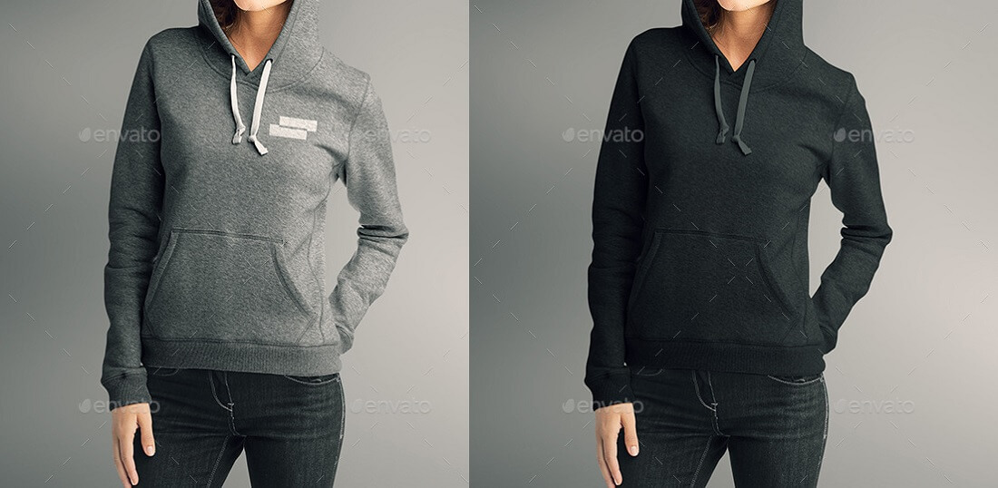 women hoodie mock-up