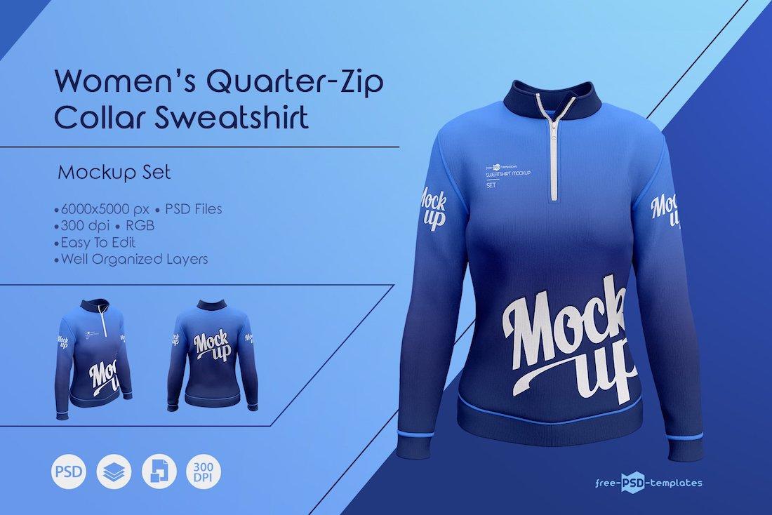 womens sweatshirt mockup set