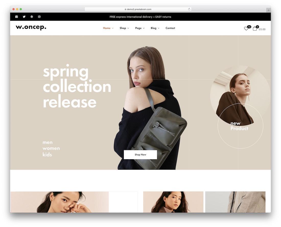 woncep fashion ecommerce theme