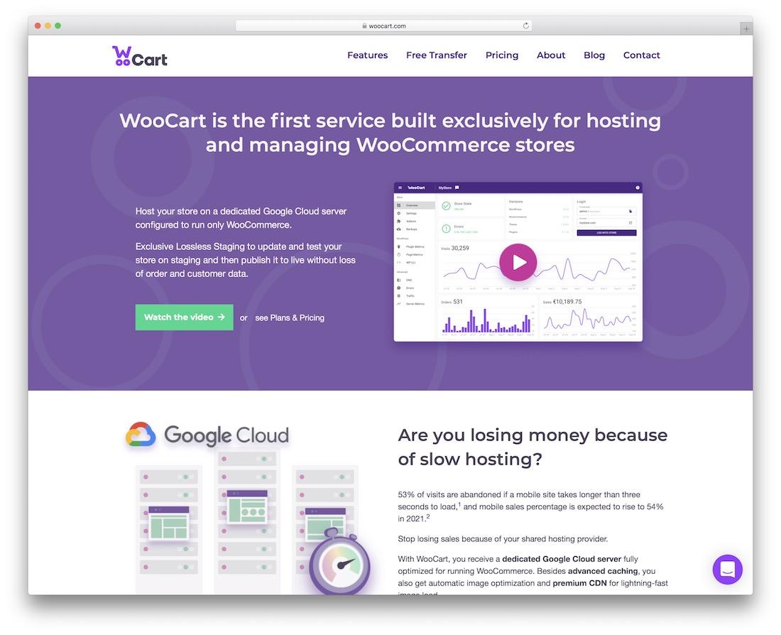 woocart woocommerce hosting