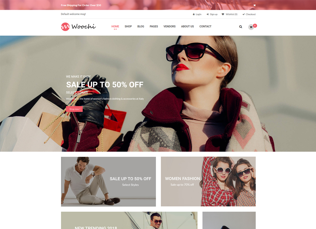 Woochi - Stylish Fashion Trend WooCommerce WordPress Theme