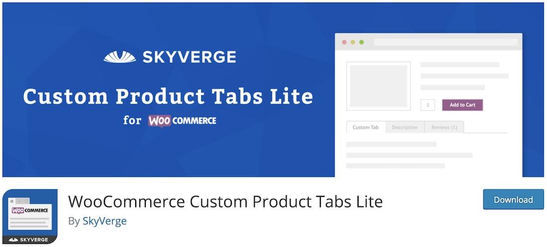 woocommerce custom product tabs lite wordpress plugin