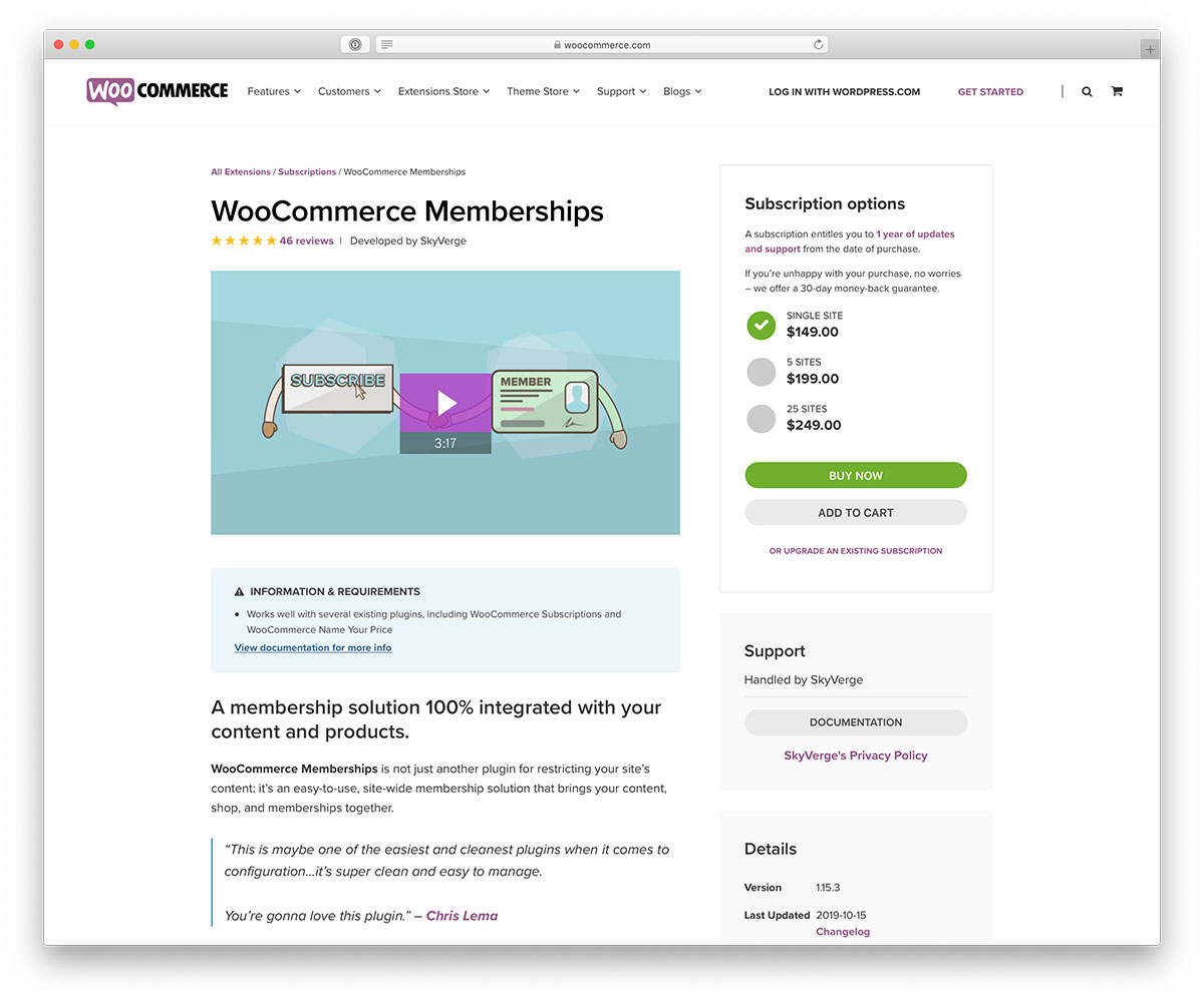 Sell memberships with WooCommerce