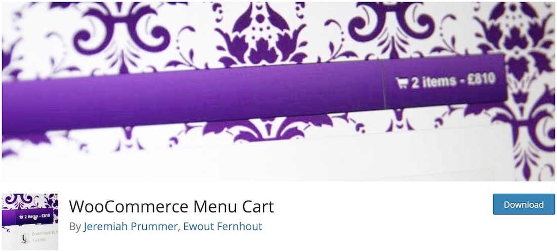 woocommerce menu bar cart wordpress plugin