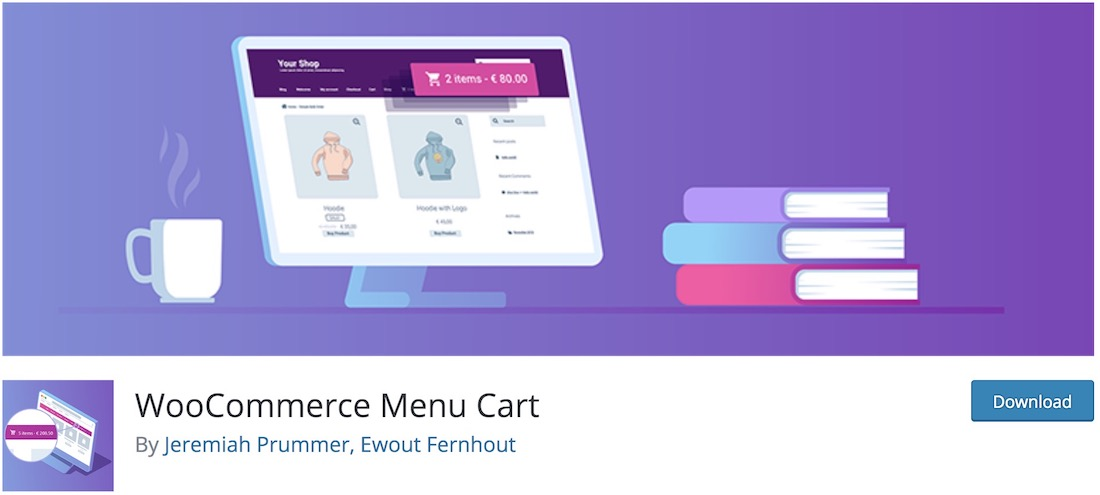 woocommerce menu bar cart