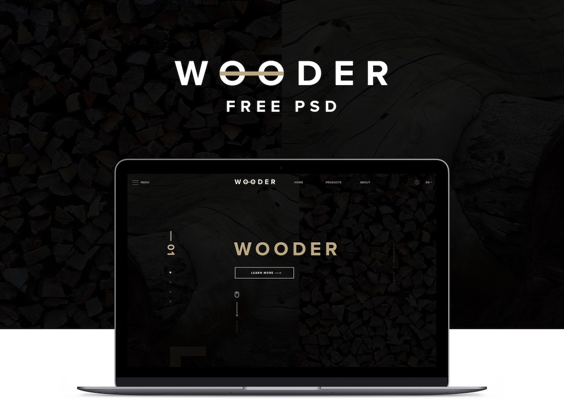 wooder free psd template