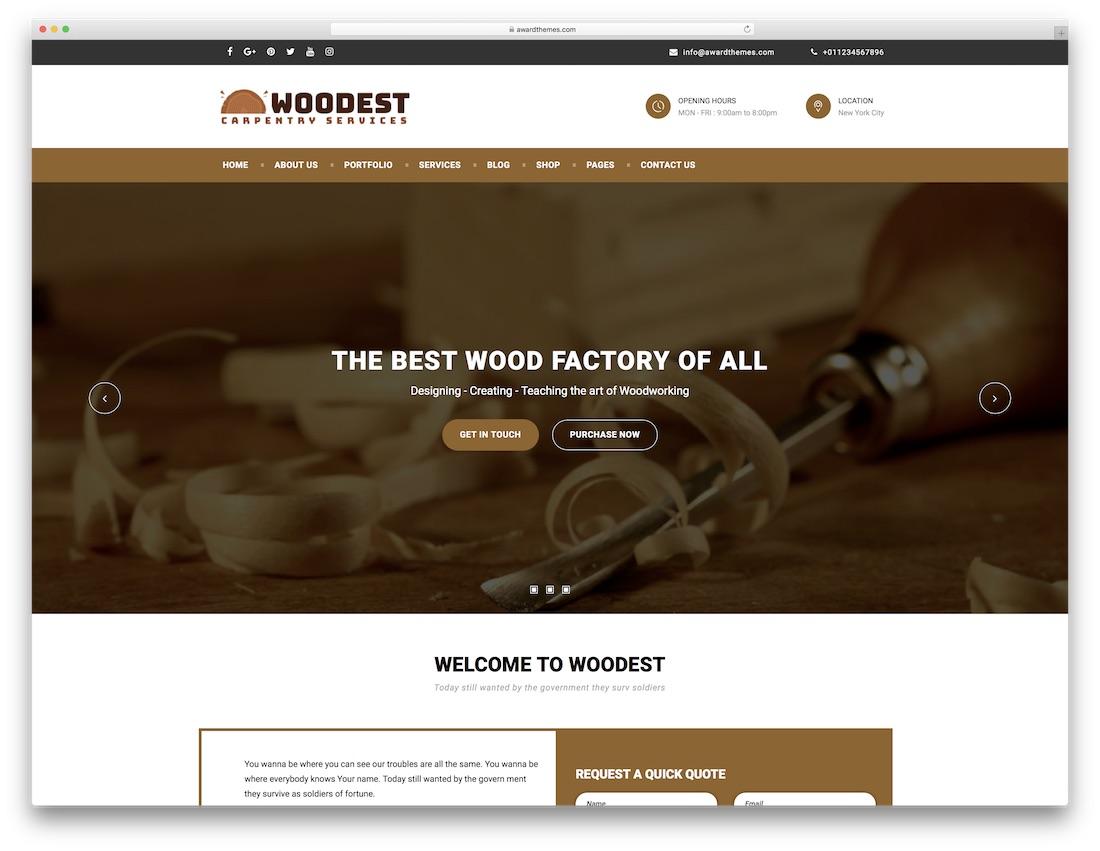 woodest cheap wordpress theme