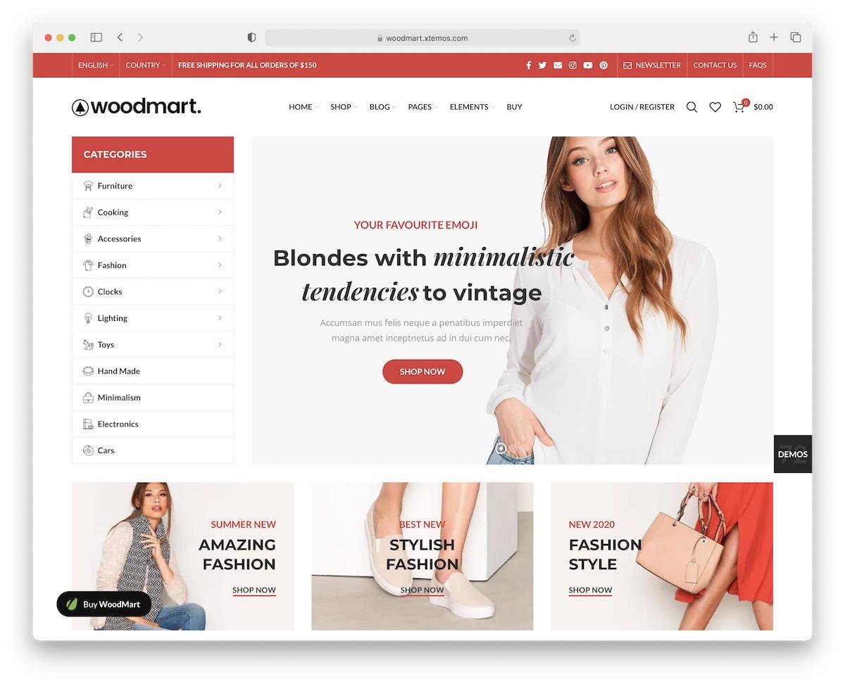 woodmart clothing wordpress theme