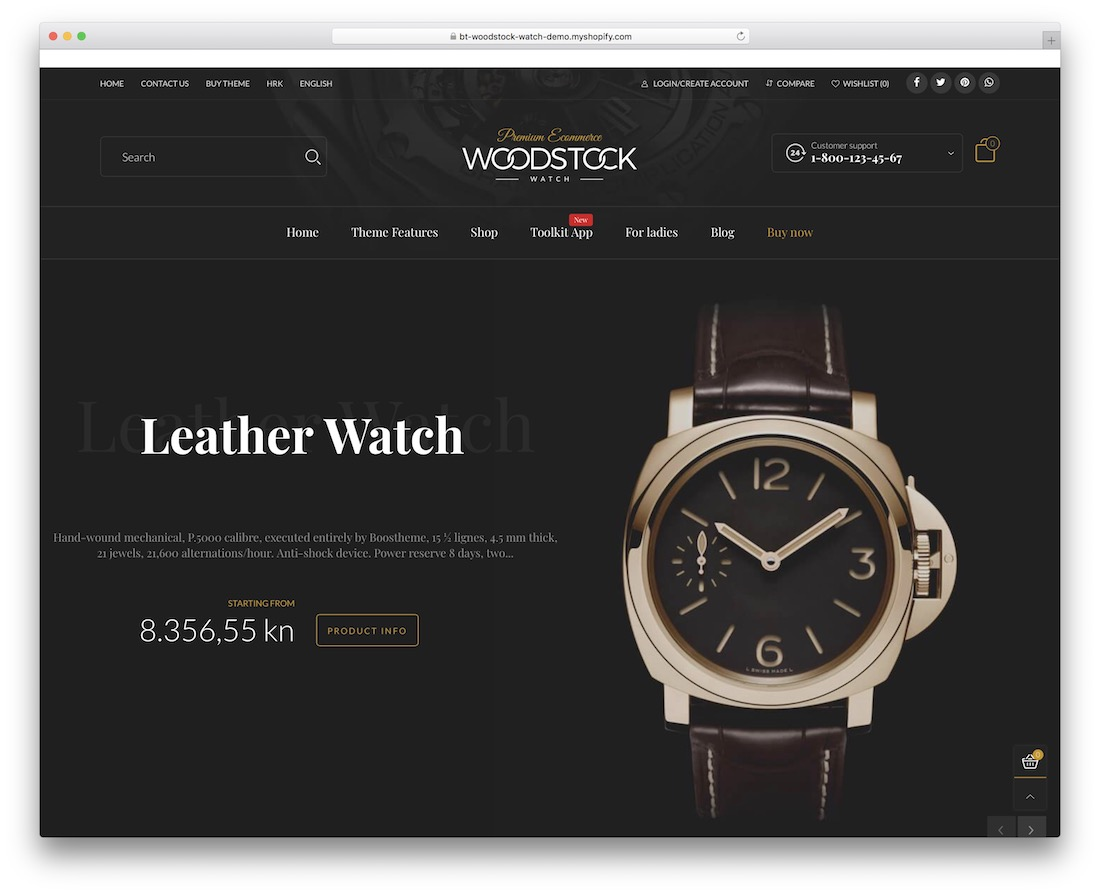 woodstock shopify parallax theme