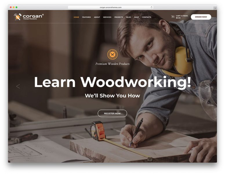 15 Furniture & Woodwork WordPress Themes 2017