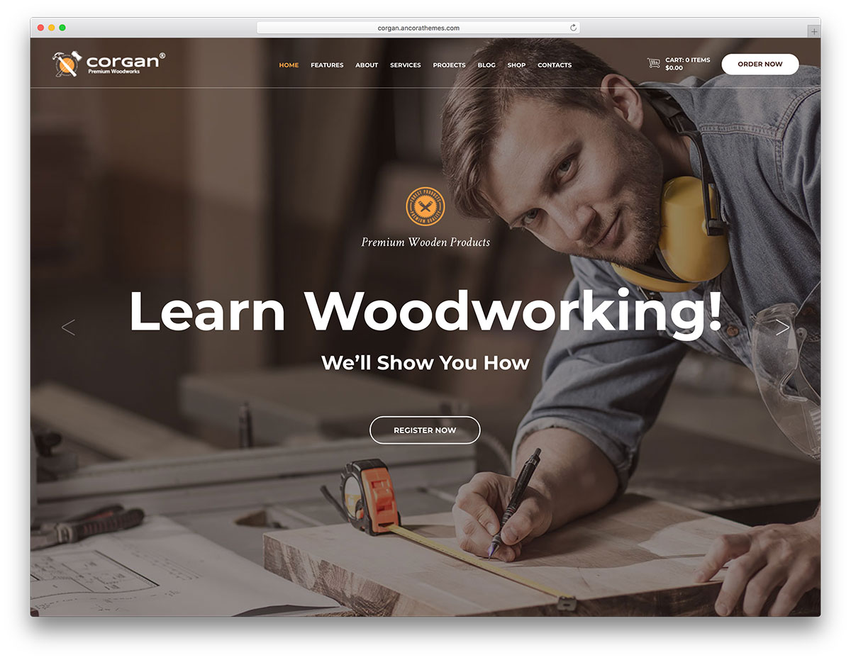 15 Furniture & Woodwork WordPress Themes 2017