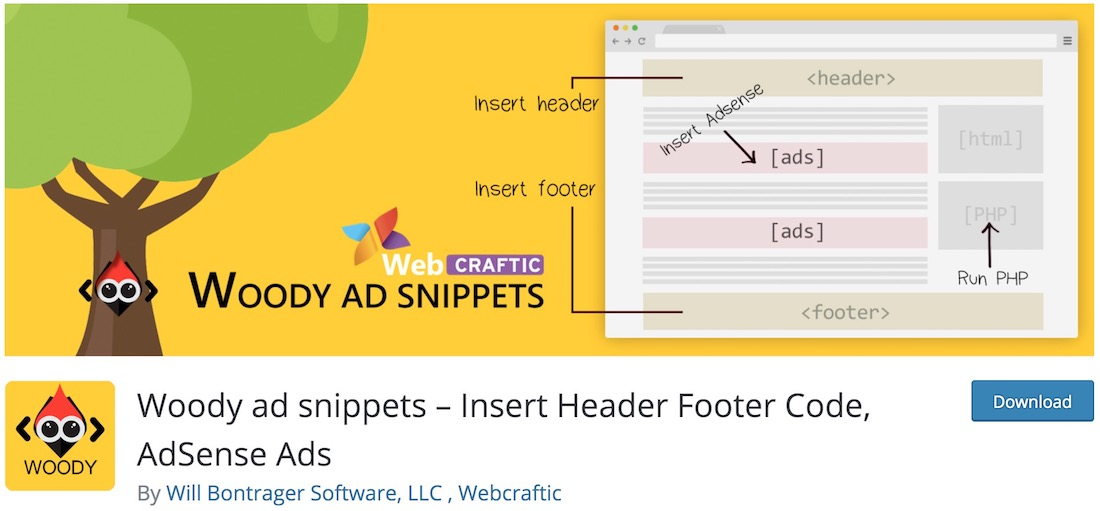 woody ad snippets wordpress monetizing plugin