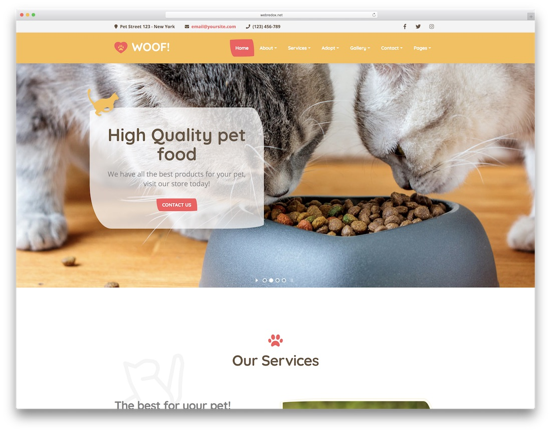 woof animal wordpress theme