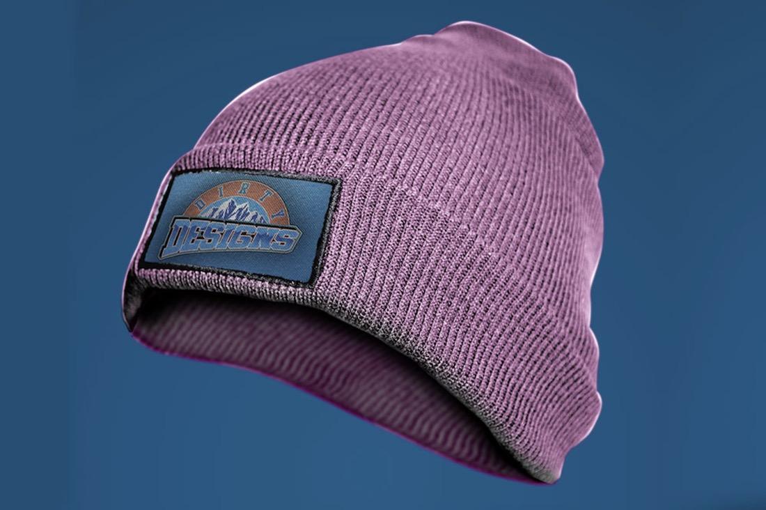 woolen beanie cap mockup