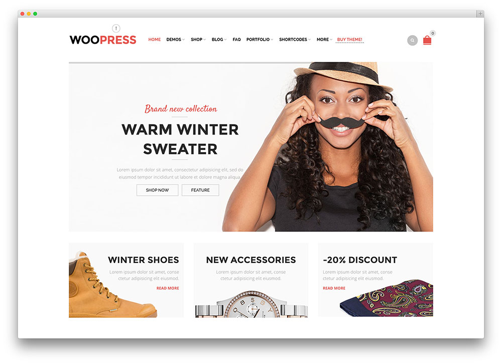 woopress - ecommerce WordPress theme