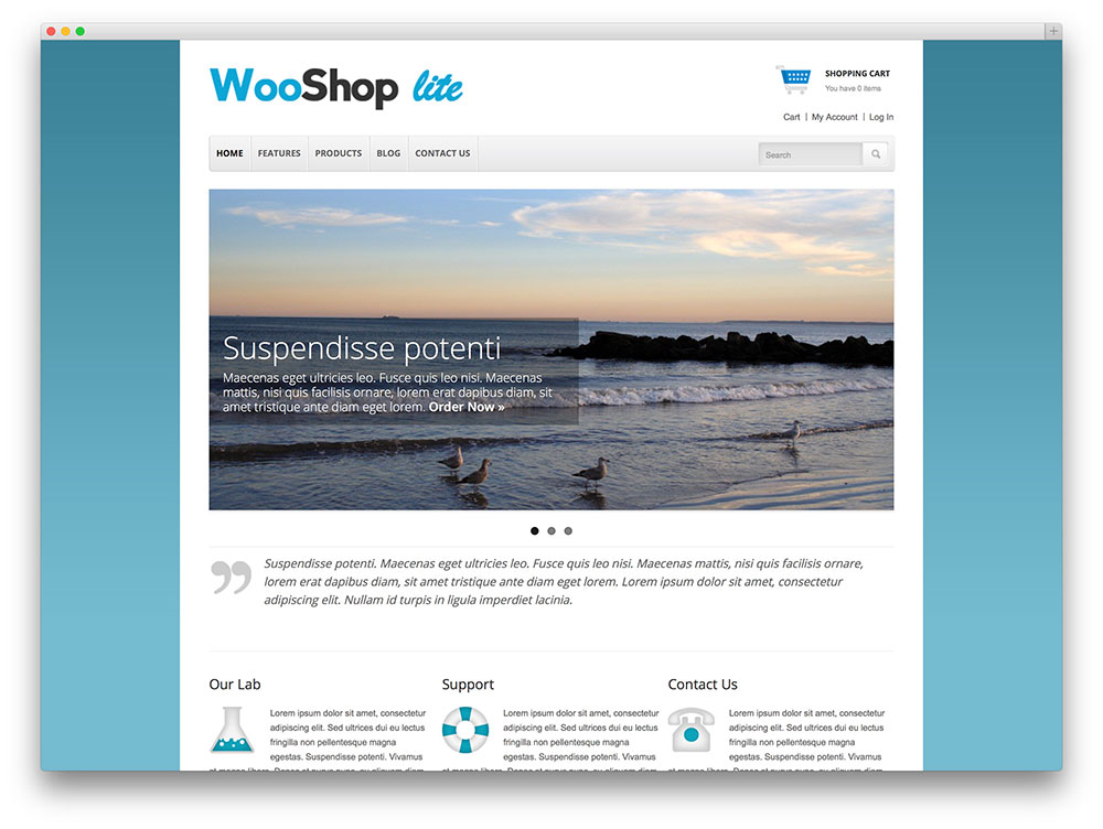 wooshoplite - classic ecommerce site template