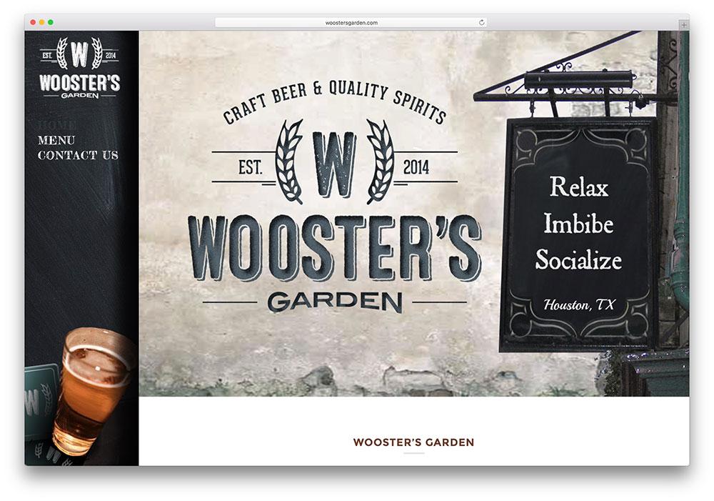 woostersgarden-retro-style-wordpress-website