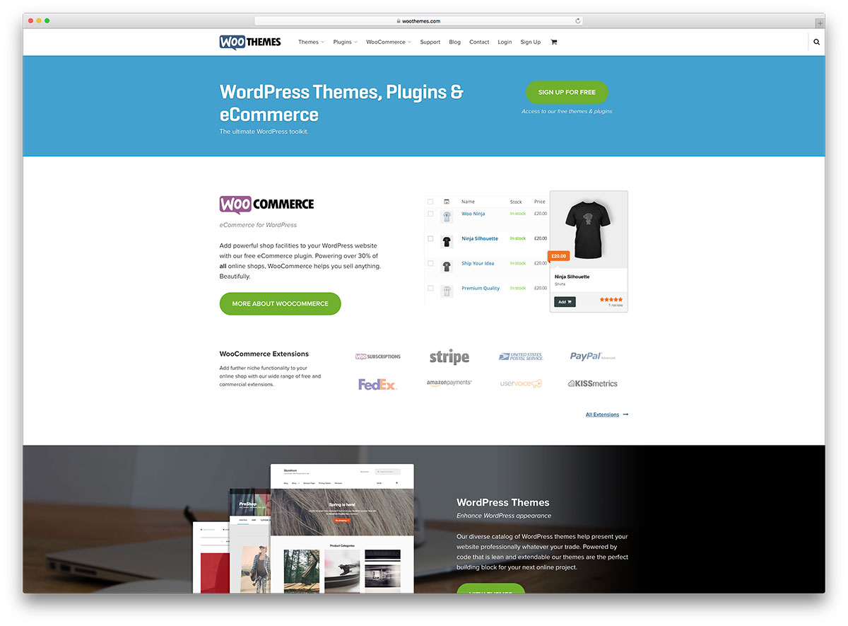 woothemes-wordpress-theme-store-site-example
