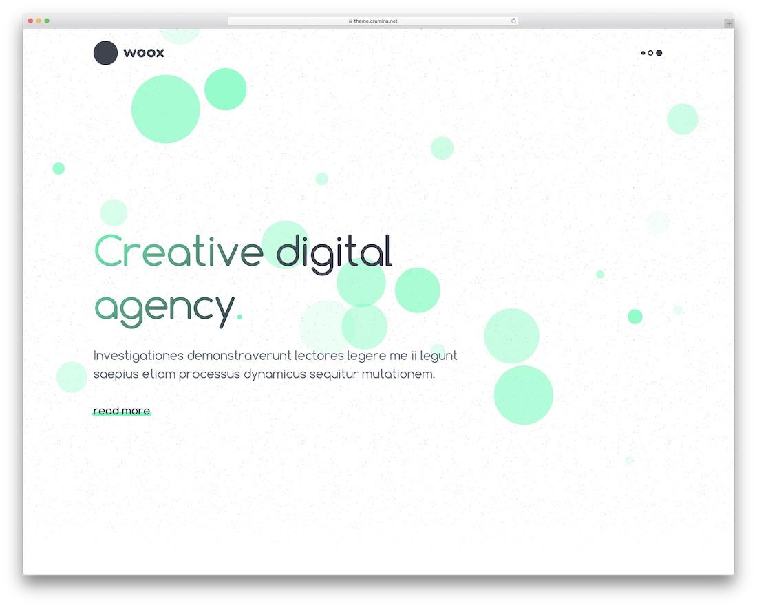 woox beautiful website template