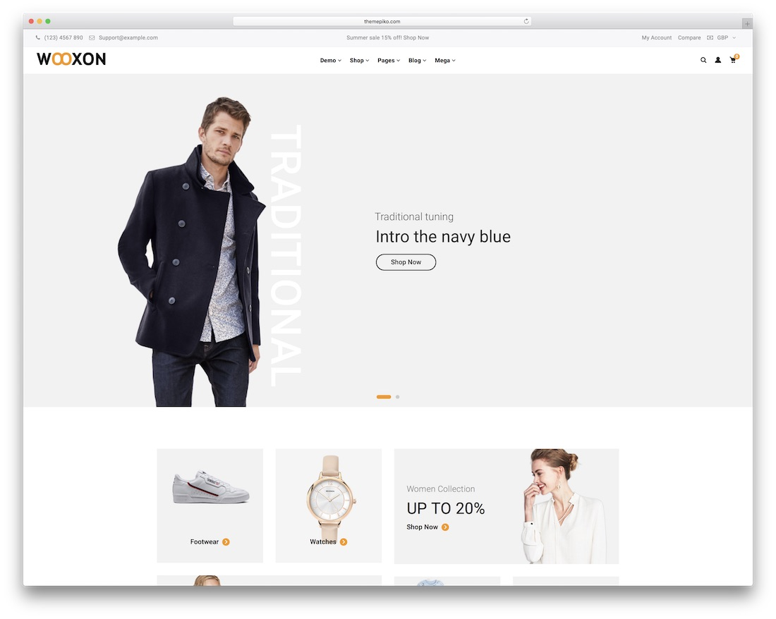wooxon ecommerce wordpress theme