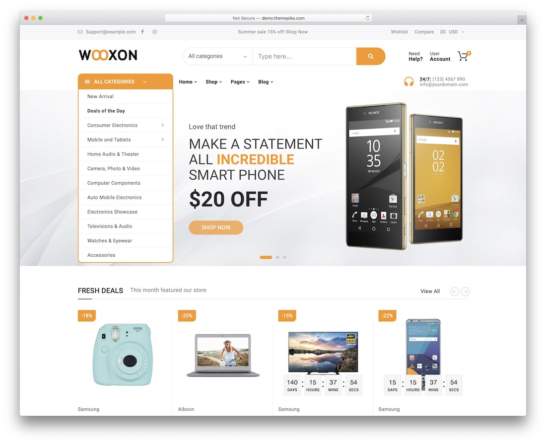 wooxon wordpress theme